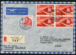 22.11.1947  FLP R-Brief von Rüti nach Steamer point, ADEN !!!