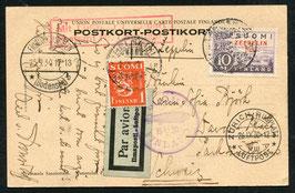 24.9.1930 Finnland Zeppelin Ostseefahrt nach Zürich