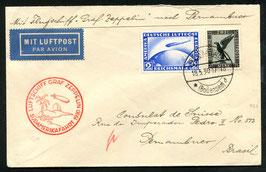 18.5./6.6.1930 Südamerikafahrt Etappe Friedrichshafen - Pernambuco auf sauberem Brief