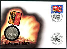 1997 Numisbrief 1. August Taler - Thema: Escalade de Genéve 1602