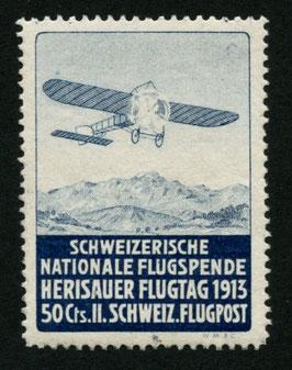 1913 Flugvorläufer Herisau Nr. V Farbfrisch ungebraucht in tadelloser Erhaltung