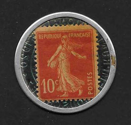 Frankreich Kapselgeld 1920 10c