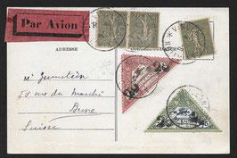 1924 Flugmeeting Vincenne, Frankreich - Flugpostkarte nach Bern