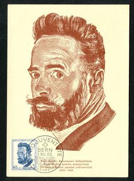 1.12.1953 Ferdinand Hodler, Kunstmaler FDC
