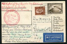 18.5.1930 Erste Südamerikafahrt, Etappe bis Lakehurst - Tagesstempel nach Charlotte, USA