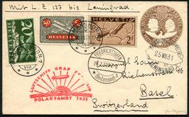24./27.7.1931 Zeppelin Polarfahrt von Romanshorn via Friedrichshafen nach Leningrad, Russland