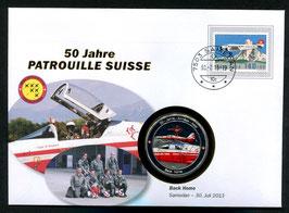 Back Home, Samedan, 30. Juli 2013 --- 50 Jahre Patrouille Suisse