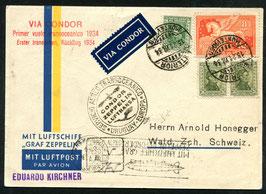 1934 Rückfahrt zur 4. Südamerikafahrt ab Uruguay, Montevideo nach Wald, ZH