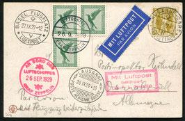 26.9.1929 Schweizer-Fahrt 1929, Abwurfversuche Lausanne Gare Exp. Lettres