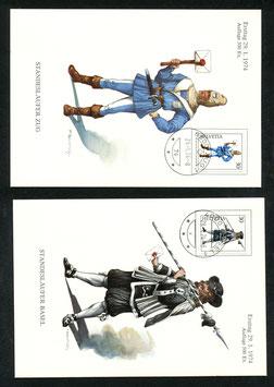 1974 INTERNABA Basel Maximumkarten Limitiert Auflage 500 Expl.