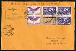 29.8./1.9.1931   1. Südamerikafahrt 1931 Sonderflug bis Rio de Janeiro, Brasilien