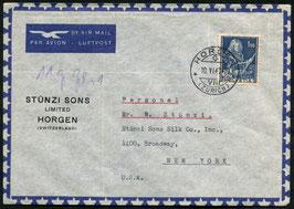 Historische Bilder 10.6.1947 Horgen via Basel nach New York, USA