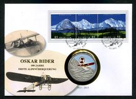Oskar Bider, 100 Jahre erste Alpenüberquerung