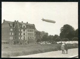 Original Foto vom Graf Zepplein über Solothurn 1929