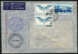 23.10.1938 Rückflug vom NABA Flug Bellinzona - Aarau nach Poleau Radja, Sumatra