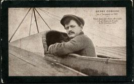 AK Pilot Henri Cobioni Trauerkarte abgestürzt 15.10.1912