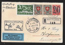 1929 Mittelholzer AdAstra-Aftrikaflug, Etappe Khartoum nach Pforzheim, Deutschland