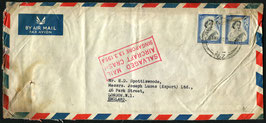 "13.3.1954 Singapore Kursflugzeug Lockheed Constellation ""Belfast"" der BOAC"