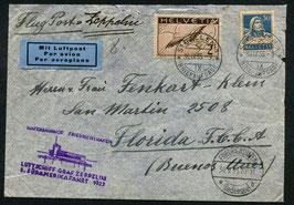 30.9./3.10.1933 8. Zeppelin Südamerikafahrt Anschlussflug nach Buenos Aires