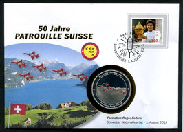 Formation Roger Federer, 1. August 2013 --- 50 Jahre Patrouille Suisse