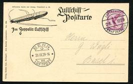 26.9.1929 1. Schweizer Fahrt 1929 Bordpost Abwurfversuch Bern