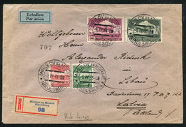 3.4.1933 FLP Brief von Mikolsburg, CSR nach Liepaia, Lettland (Vollstempel)