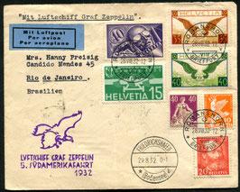 29.8./1.9.1932   Zeppelin 5. Südamerikafahrt 1932 nach Rio de Janeiro, Brasilien