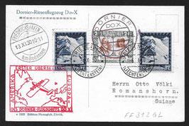 Flugschiff DO-X   30.1.1931 Zulieferpost Liechtenstein bis Rio de Janeiro, Brasilien