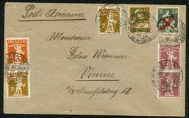 RF 19.1 oz   10.5.1919 FLP Brief von Genf nach Wien, Oesterreich