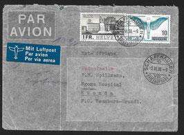 3.6.1938 FLP Brief von Schaffhausen nach Ruanda, Usumbura-Urundi