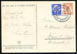 26.5.1933   Schweizfahrt nur Bordpost es wurden nur 300 Belege transportiert