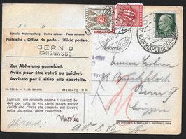 """6.7.1938 Ansichtskarte von Benito Mussolini """"il Duce"""" von Aosta nach Bern"""