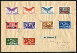 Amtl. Provisorischer Stempel Nr. 8 Lausanne Blécherette auf Satzbrief nach Schlieren 1925