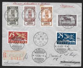 16.9.1924 Interessanter FF 24.3z Casablanca - Toulouse nach Genf via Zürich