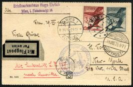 1./10.8.1929   Zeppelin 1. Nordamerikafahrt Zuleitung Österreich