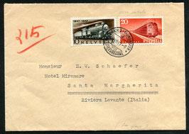 FDC 9.8.1947,  Z 279 mit teilweiser Abnützung (Querträger fehlt fast vollständig, rot nach rechts verschoben) frühes Stadium