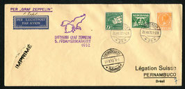 29.8./7.9.1932  5. Südamerikafahrt 1932 Zuleitung Niederlande nach Pernambuco, Brasilien