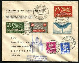 30.7/1.8.1932 Zeppelin LUPOSTA-Fahrt, Rundfahrt Abgabe Danzig