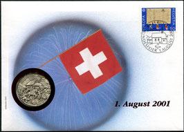 2001 Numisbrief 1. August Taler - Thema: Schlacht bei Villmergen 1712