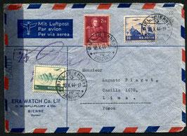 Historische Bilder 10.10.1944 Biel via Basel nach Lima, Peru