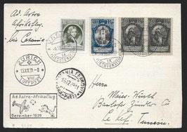 1929 2. Schweizer Afrikaflug Mittelholzer Etappe Catania