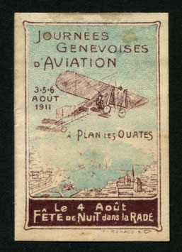3./6.8.1911 Genfer Flugtage Plan-les-Ouates ungebrauchte Vignette