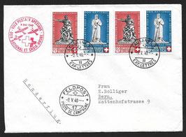 9.5.1940 Nationalspende und Rotes Kreuz Lausanne via FP17 nach Bern