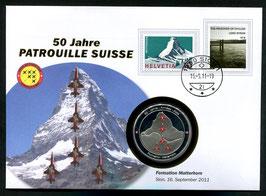 Formation Matterhorn Sion, 16. September 2011 --- 50 Jahre Patrouille Suisse
