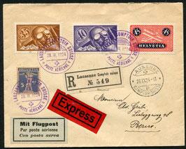 SF 24.8 FLP Express-Brief von Lausanne Comptoir Suisse nach Bern via Zürich
