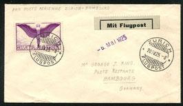 RF 25.1. k   20.4.1925 Post ab Zürich,   EF Zürich - Hamburg