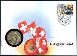 2002 Numisbrief 1. August Taler - Thema: Alpenüberquerung General Suworow