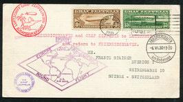 5.5.1930  Zeppelin Südamerikafahrt mit LZ 127 Rückfahrt USA -  Fr'hafen - Schweiz