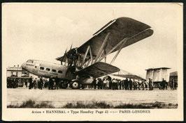 "AK Flugzeug ""Hannibal"" Typ Handley Page 42 Strecke Paris - London"
