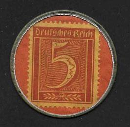 Deutschland Kapselgeld um 1920 5pf